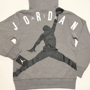 NIKE 🔥 Air Jordan Screen Print Hoodie 955802-GEH